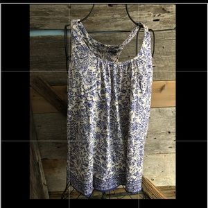 George blue and white tank size Large